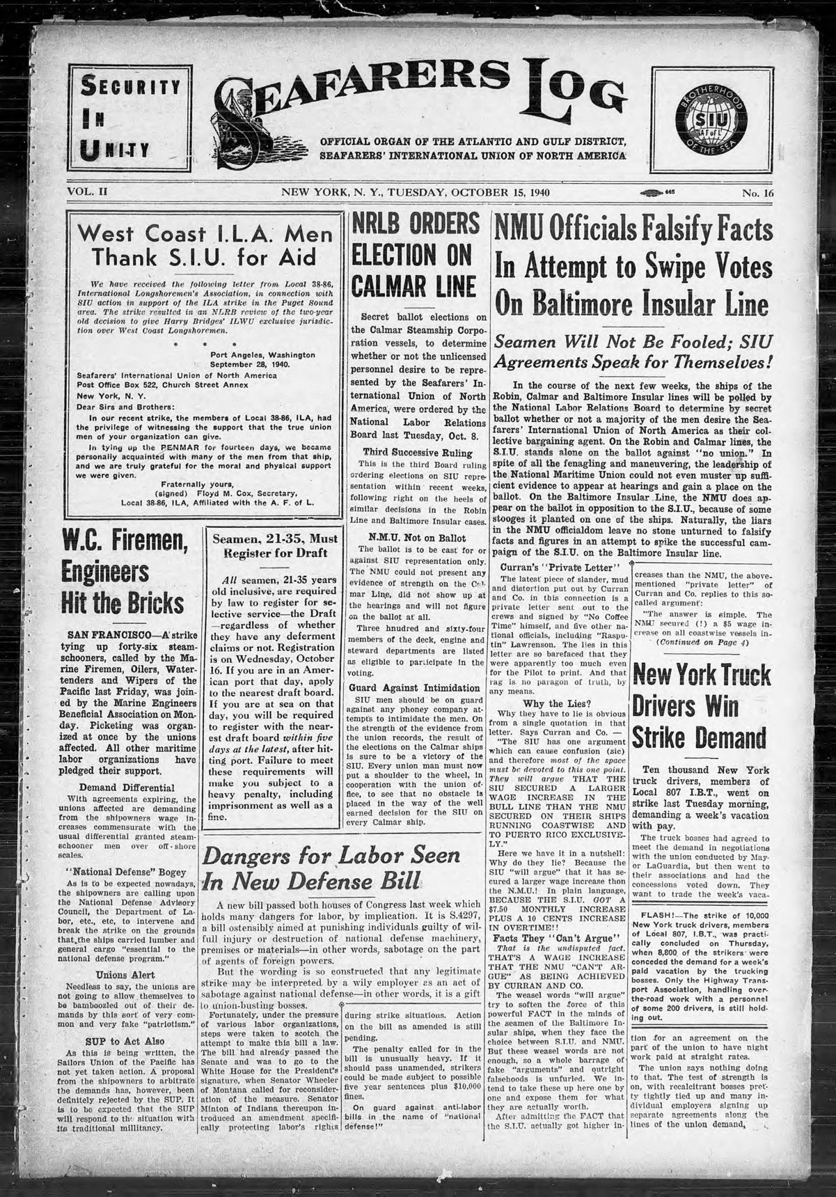 front page 1940-1